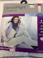 Climate Right CuddlDuds Womens Leggings Comfort Core Ivory Size Small (6-8)