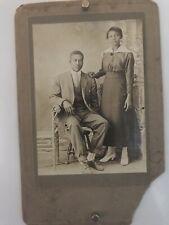 Americana Dapper African American Couple Siblings Photo Black White 1916 WW1 W3