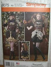 Womens/Misses Steampunk Dress Costumes Sewing Pattern/Simplicity 8075/SZ 14-22/N