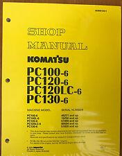 Komatsu PC100-6 PC100L-6, PC120-6, PC130-6 Excavator Service Shop Repair Manual