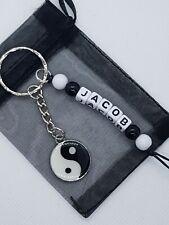 Personalised yin yang Keyring, yin yang gifts, chinese keyring,