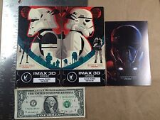 Lot of 2 Rogue One IMAX 3D Regal Collector Tickets Star Wars WEEK 2 and 3 K-2SO