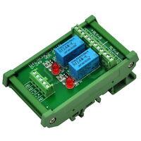 DIN Rail Mount 2 DPDT Signal Relay Interface Module, DC 24V Version.