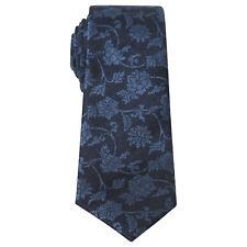Penguin Silk Navy Blue Floral Tie