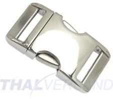Metall Steckschnalle Steckschließer 16mm Aluminium Alu 4001 Steckschnallen