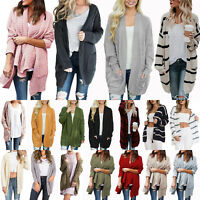 Women Long Sleeve Knitted Cardigan Sweater Winter Outwear Jumper Coat Jacket Top