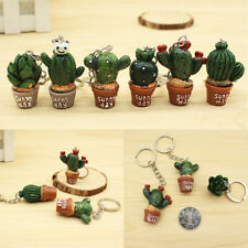 5PC Cute Simulation Cactus Key Ring Key Chain Car Bag Hangbag Plant Pendant Gift