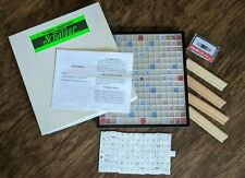 Scrabble TURNTABLE Original Deluxe Braille Visually Vision Impaired 99% Complete