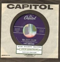 Armstrong, Louis - High Society Calypso Vinyl 45 rpm record Free Shipping