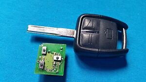 VAUXHALL VECTRA C SIGNUM 3 BUTTON REMOTE KEY FOB READY TO BE PROGRAMMED NO LED