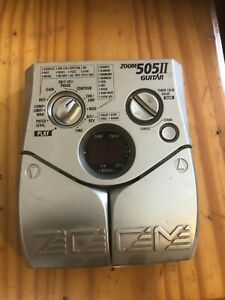 zoom 505 multi effects guitar pedal