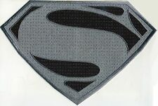 "7.8"" x 11.7"" X-Large Superman Man of Steel Antique Silver & Black Chest Patch"