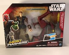 Star Wars Episodio Ii Jedi Speeder and Anakin Skywalker Hero Mashers Matel Nib
