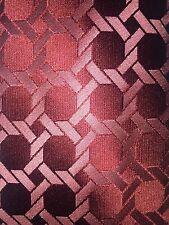 """NWOT BCBG Attitude necktie Thick 100% silk Red Geometric 59x3.5"""""""