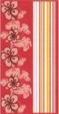Pink & Red Frangipani Cotton Velour/Jacquard Beach Towel - 86 x 160cm