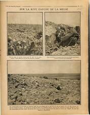 Poilus Tranchée la Meuse Bataille de Verdun Cote 304 Canons de 75 War 1916 WWI