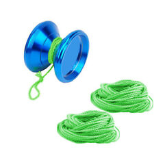 10Pc Professional Children Kids YoYo Ball Toy Bearing Trick Strings Rope Green