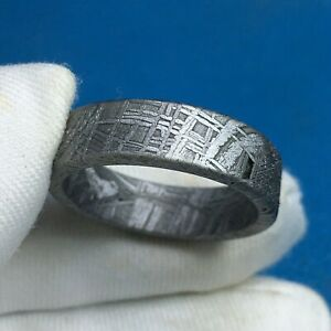 meteorite muonionalusta ring amulet iron-nickel JZB0029 pendant inner-18.7mm