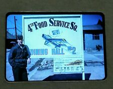 Authentic 4th Food Service Korean War Slide 1953 From A Soldiers 35MM Kodachrome