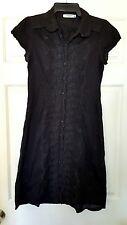 JEANSWEST Black Embriodered Summer Beach Dress Size 10