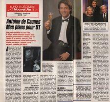 Coupure de presse Clipping 1991 Antoine de Caunes (1 page1/2)
