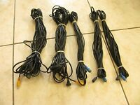 Set of 5 Bose Jewel Speaker wires cables
