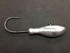 4oz Striper Ling Grouper Halibut Bullet 8//0 Saltwater Hook 100 Jig Heads Lures