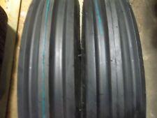 TWO 500X15,500-15,5.00X15,5.00-15 FARMALL 404   3 Rib Tractor Tires w/Tubes