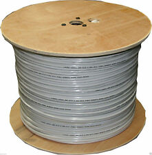 1 roll Solid Copper Coax 1000ft RG59 Siamese Cable 18/2 Wire, 95% Braid white