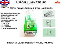 LUCAS 580 T20 W21W/5W STOP BRAKE & TAIL SIDE LIGHT BULBS LAMP W3X16Q 7443 12V UK