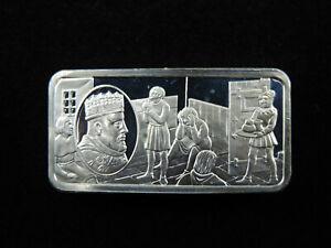 1000 Grains Sterling Silver Ingot Bar 1000 Years of British Monarchy HENRY IV