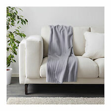 IKEA Throw Blanket Rug Snuggle Sofa Lounge Couch Bed Warm Grey Fleece Soft Cover