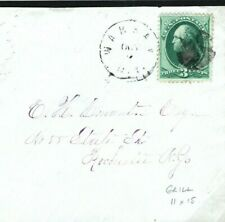 USA Cover Boston Mass 3c Grenn with GRILLE (11c15) 1870 {samwells-covers} SU19