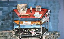 "DAVID HOCKNEY BOOK PLATE PRINT ""PAINT TROLLEY L.A."" ART SUPPLIES ON ROLLING CAR"