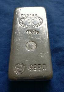 Swiss Bank 1kg Silberbarren, CMP/Companie des Metaux Precieux Paris, Rarität
