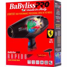 NEW! BABYLISS PRO BABF7000 Rapido Ferrari Designed Engine Hair Dryer