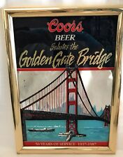 Coors Beer Bar Mirror 1987 Golden Gate Bridge 50th Anniversary SF RARE