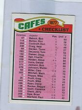 1977 Topps Mexican # 206  CLEVELAND BROWNS Team Checklist  stf