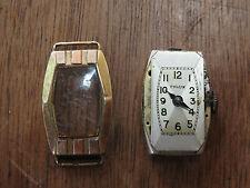 Pequeño reloj de pulsera antiguo mujer oro y plata CYLUX french golden watch