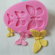 3D Butterfly Pattern Silicone Sugar Cake Decor Cutters Jelly Fondant Mould  Mold
