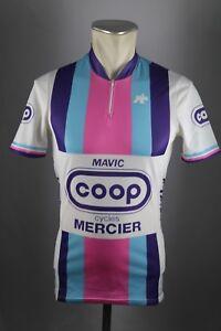 Coop Rad Trikot Mercier Assos Mavic Gr. S Pierre le Bigaut cycling 80s jersey F3