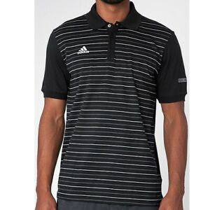 Adidas Men's Black Real Madrid Peformance Fitted Polo Size S G83099