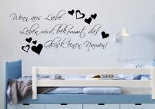 WD Wandtattoo LIEBE LEBEN SPRUCH Bilder Wandsticker Kinderzimmer Aufkleber Decal