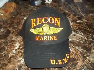 Marine Corps Recon, 100% Cotton, Embroidered Ball Cap, Very Colorful!