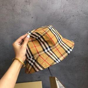 New Men Women Burberry Bucket hats Caps Size Medium Khaki