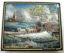 "TERRY REDLIN 1000 Piece Jigsaw ""MORNING FROST"" White Mountain EUC 2010"