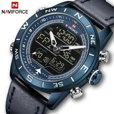 NAVIFORCE Mens Watch Fashion Sport Male Waterproof Quartz Digital Led Wristwatch