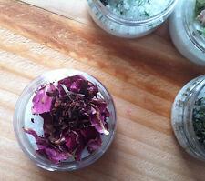 HYDRATING BATH SALT ~ Rose & Pomegranate Tea {Botanical Skin Care}
