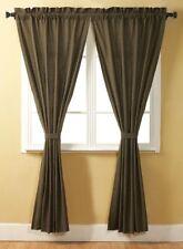 Tea Cabin Green Plaid Window Panel Set Homespun Curtains Vhc Brands