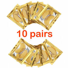 10X Pairs Anti Aging Dark Circle Collagen 24k Gold Eye Patches Pad Mask Bag Gel